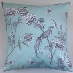 "Blue Phoenix Bird Cushion Cover 16"" x 16"""